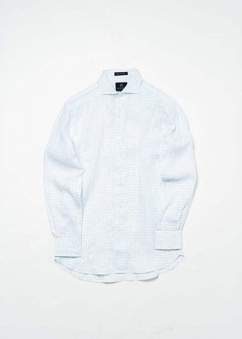 NEW ENGLAND BLUE WINDOW PANE SHIRT