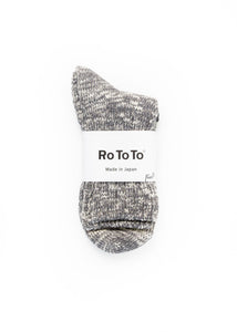 ROTOTO LIGHT GREY SLUB SOCKS