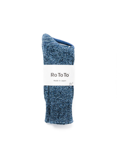 ROTOTO BLUE DENIM CREW SOCKS