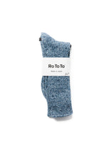 ROTOTO ICE DENIM CREW SOCKS