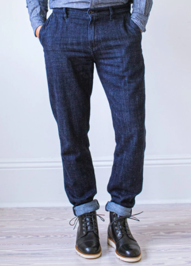 GRAHAM WORK TAPER TROUSER INDIGO NOMAD