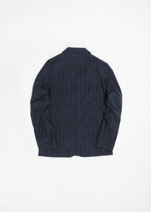 UNIVERSAL WORKS RAISED PINSTRIPE SUIT JACKET