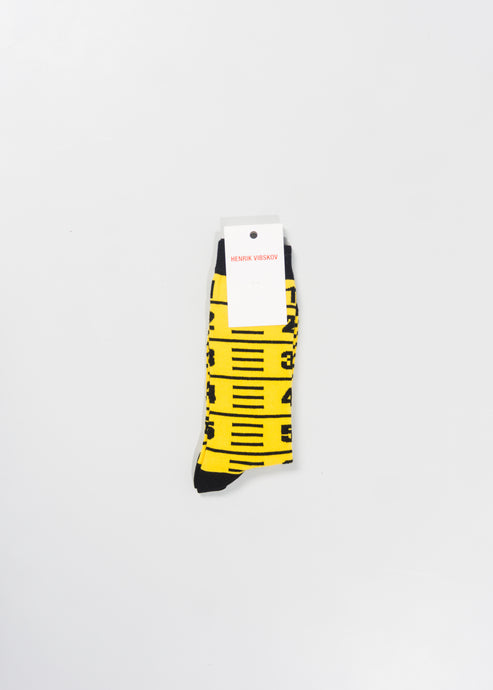 HENRIK VIBSKOV MENS MEASURETAPE SOCKS
