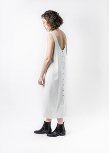 LACAUSA NATURAL REVERSIBLE SILK DRESS