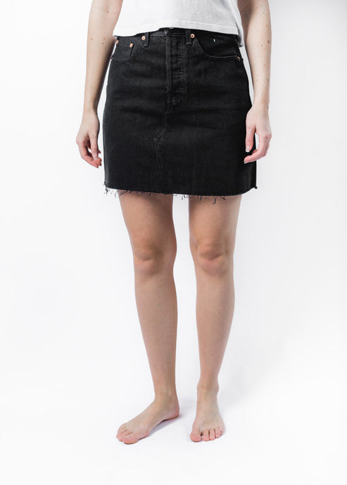 LEVIS BLACK DECONSTRUCTED SKIRT