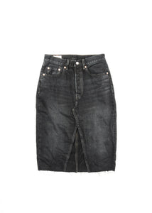 LEVIS WOMENS DECONSTRUCTED DENIM SKIRT