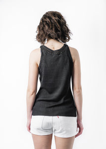 LITTLE LIES BLACK KNITTED TANK