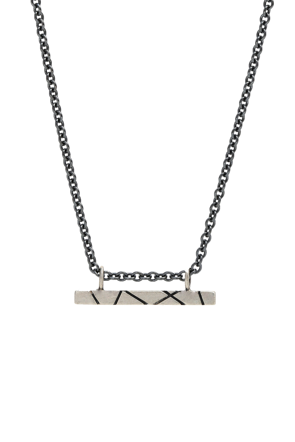 Intersecting Lines Bar Necklace