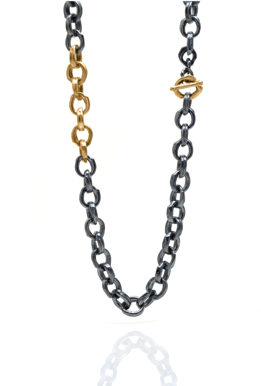 Melted Thick O Chain 14&18kYG OX