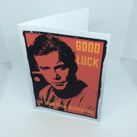 Good Luck Greeting Card Captain Kirk From Star Trek A6 Can Be