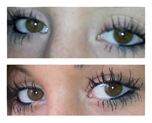 before and after eyelashes