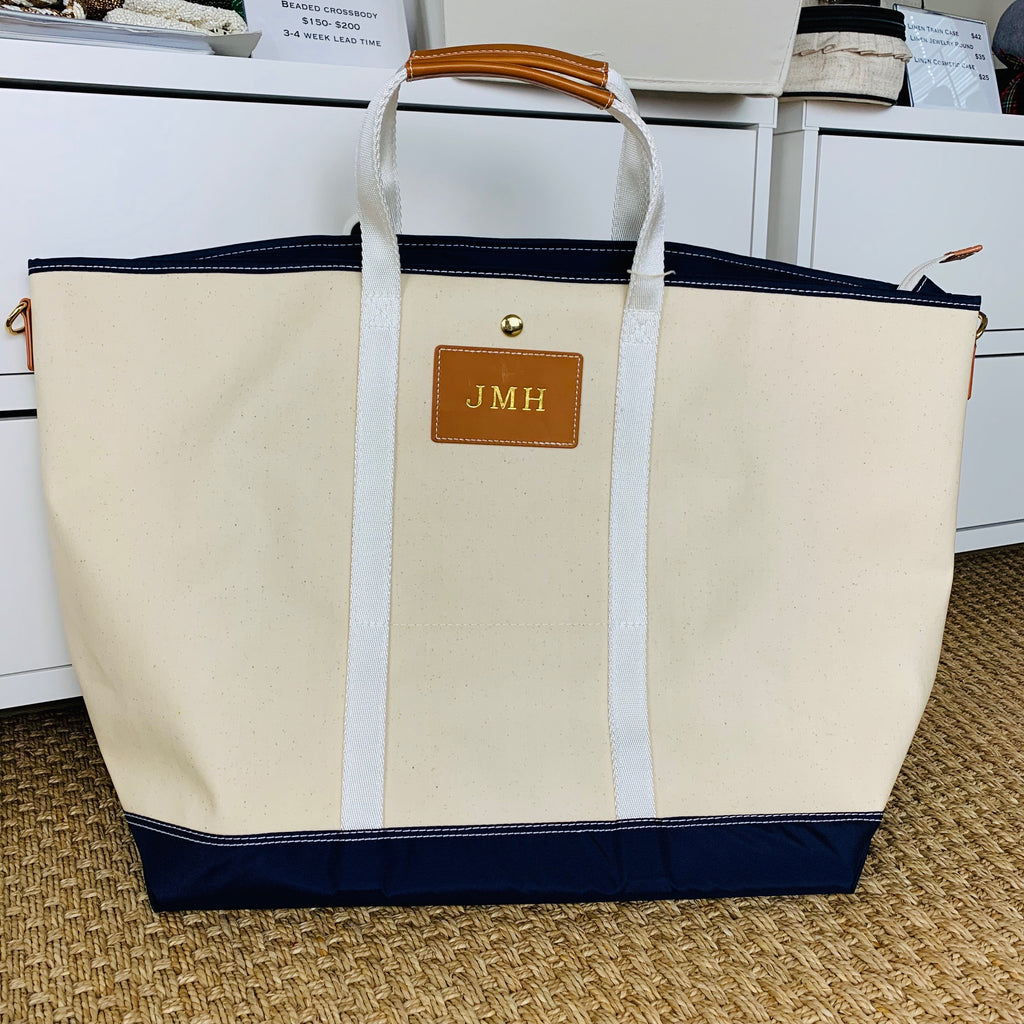 Avery Jumbo Waxed Canvas Tote