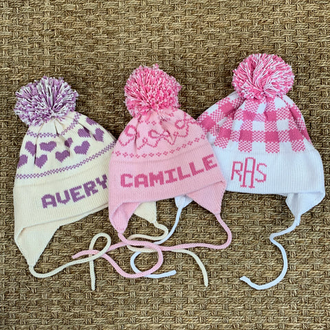 Girls Earflap Knit Hat