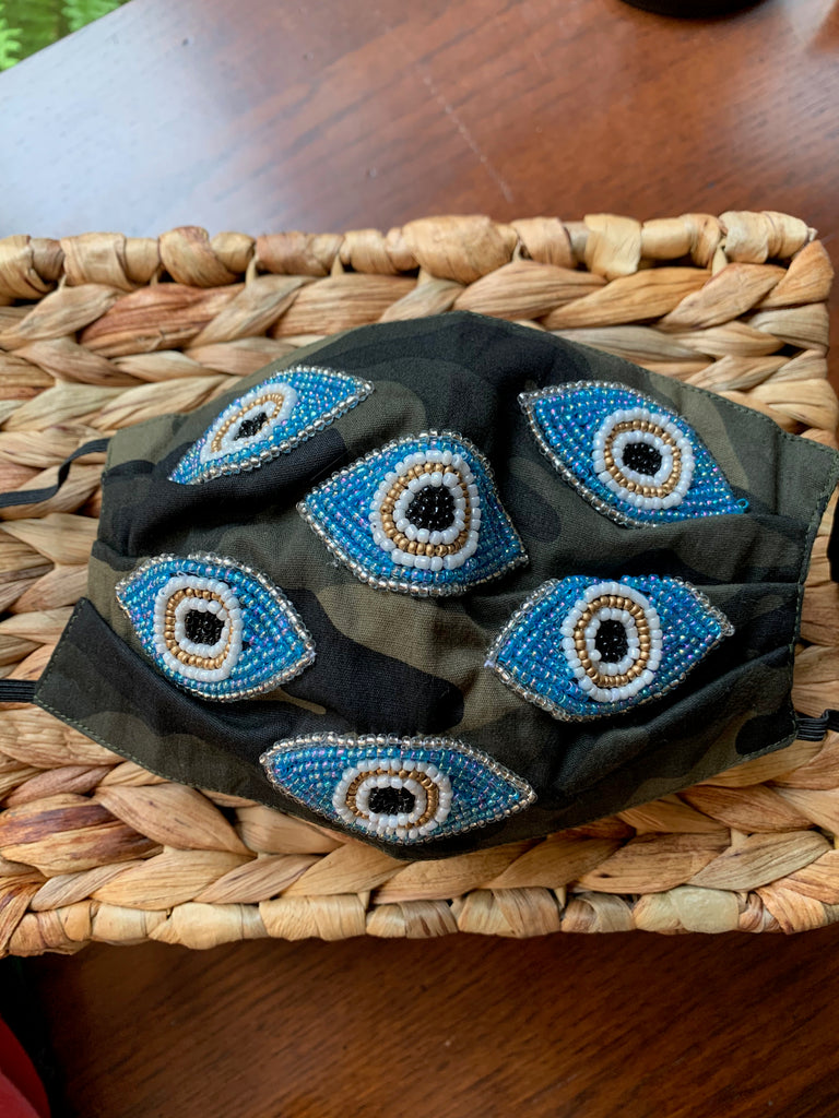 Hand Beaded Custom Cotton Masks