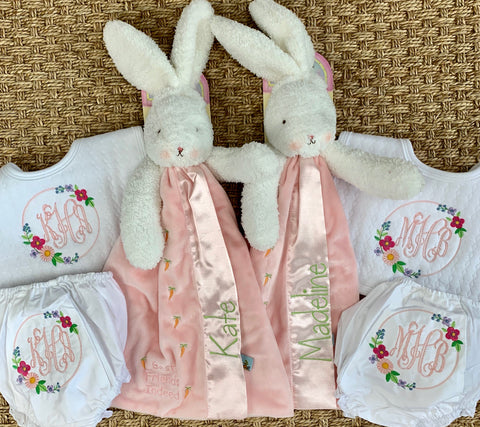 Bunny, Bloomer and Bib Set