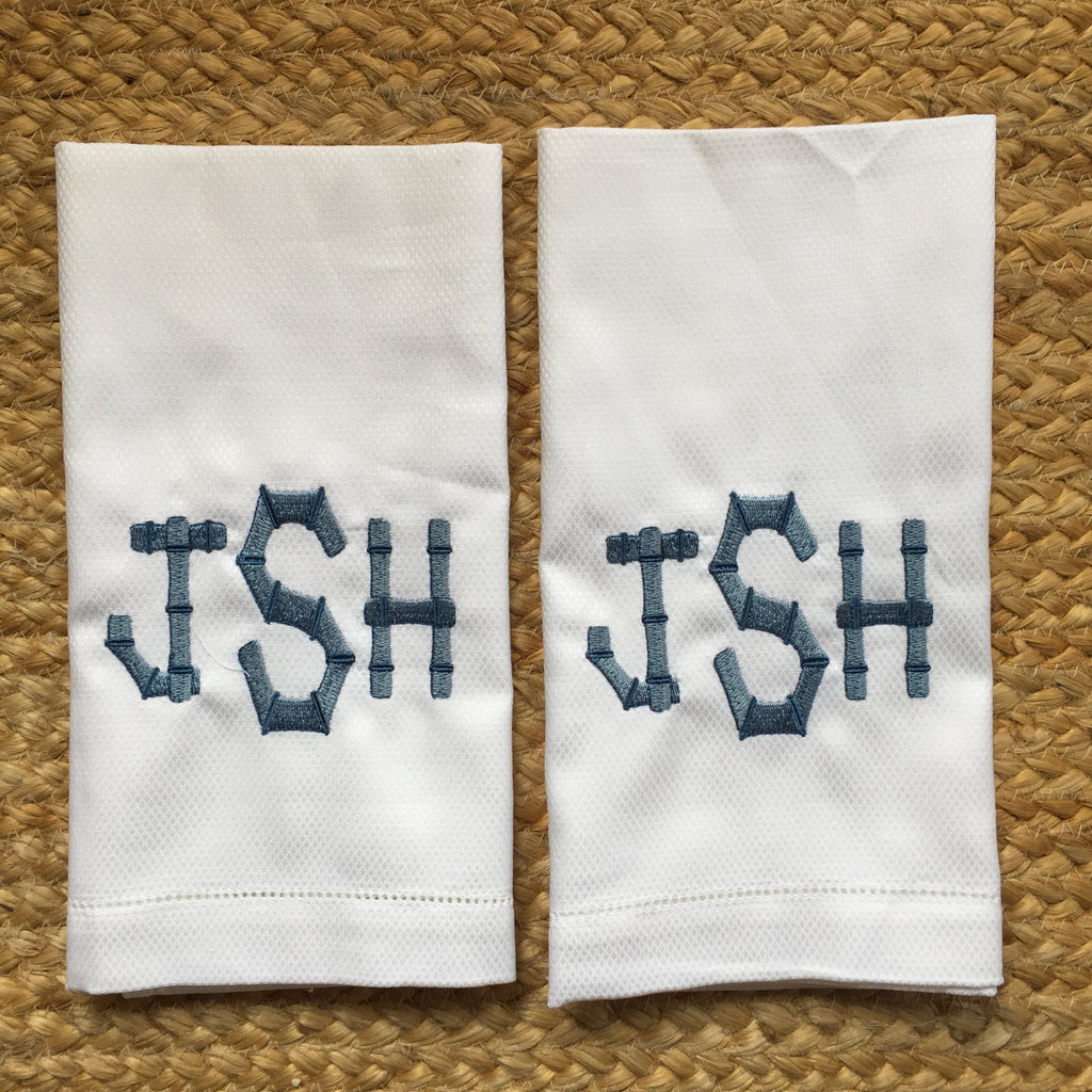 Hemstitched Cotton  Huck Towels - Set of 2