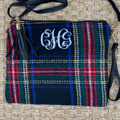 Tartan Plaid Clutch or Crossbody