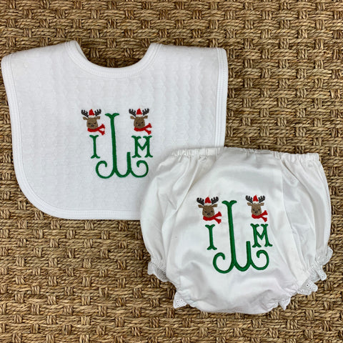Holiday Bib and Bloomer Set