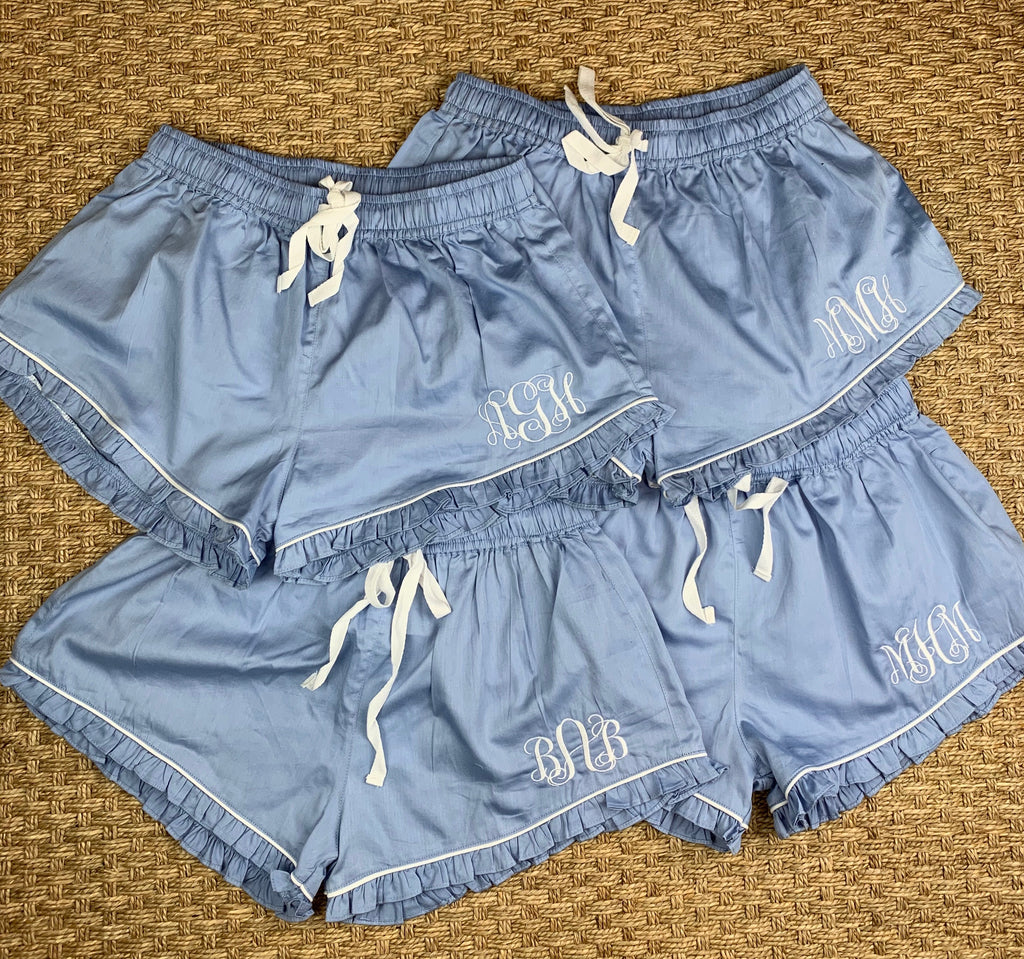 Bella Sleep Shorts - Blue