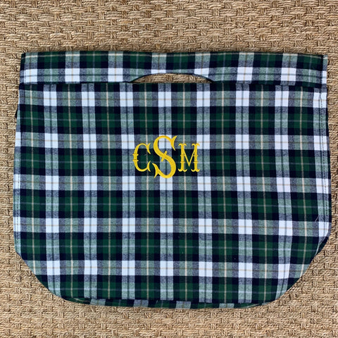Plaid Flannel Cooler Tote