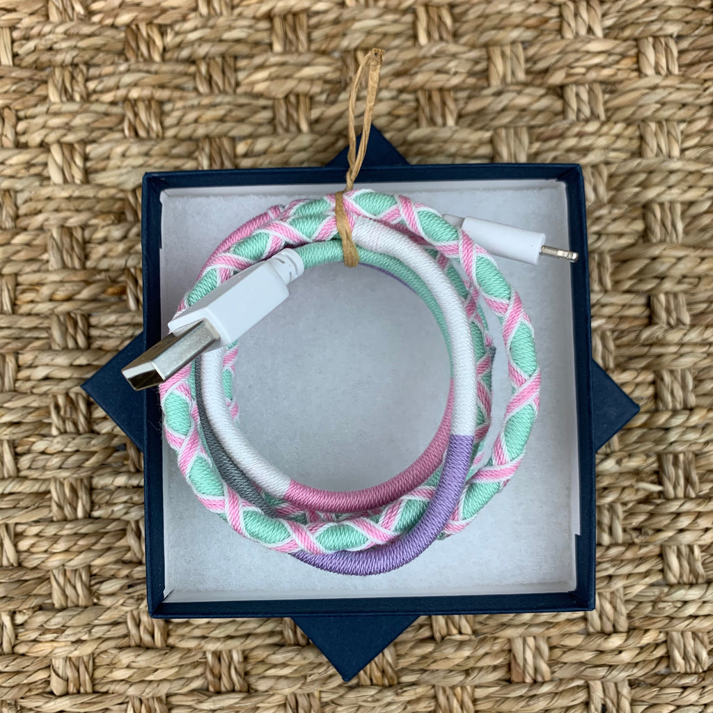 Boho Colorful Wrapped Charging Cord