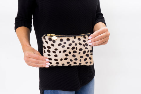 Parker and Hyde Colorful Compact Hide Clutch