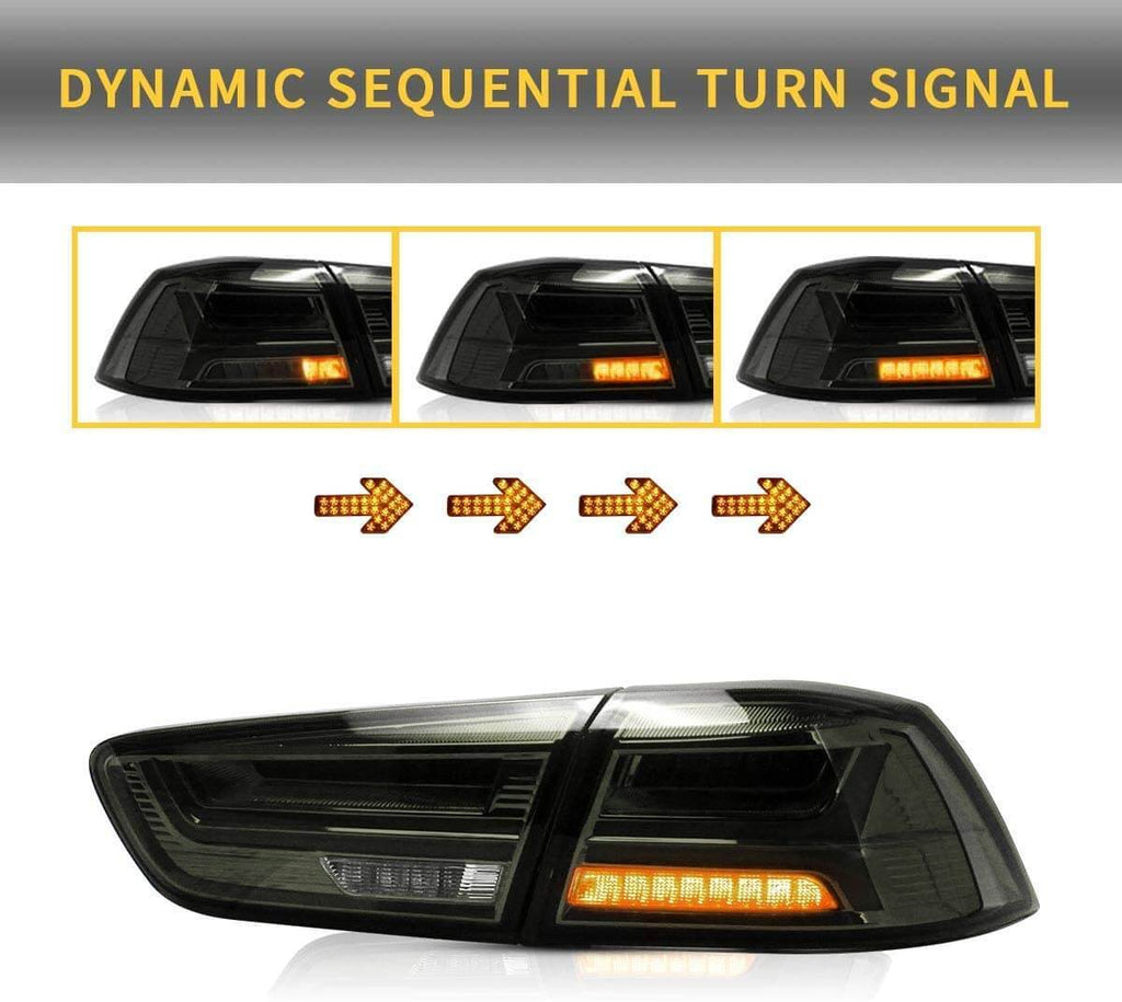 MITSUBISHI LANCER SEQUENTIAL LED TAIL LIGHTS
