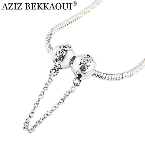 8a5654c75 Heart Safety Chain Bead Fit Pandora Charm Bracelets 2017 DIY Jewelry For  Women Diy Bead Stopper