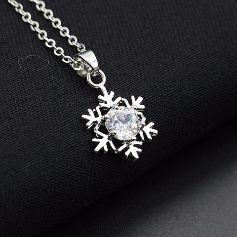 Special design and unique structure Women Snowflake Pendant Necklace Chain Necklace Jewelry 46+5cm #30