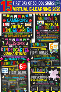 Awesome First Day of Virtual School Signs to Celebrate Your Child!