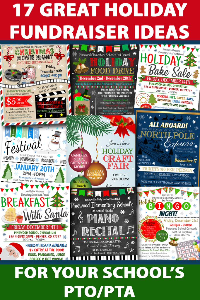 17 Festive Holiday Fundraiser Ideas for your School's PTO PTA