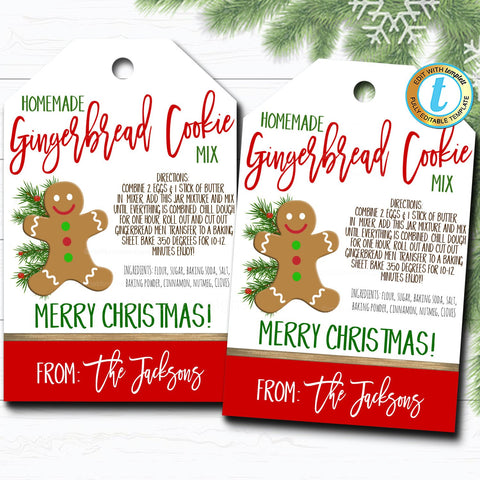 cookie christmas gift tag