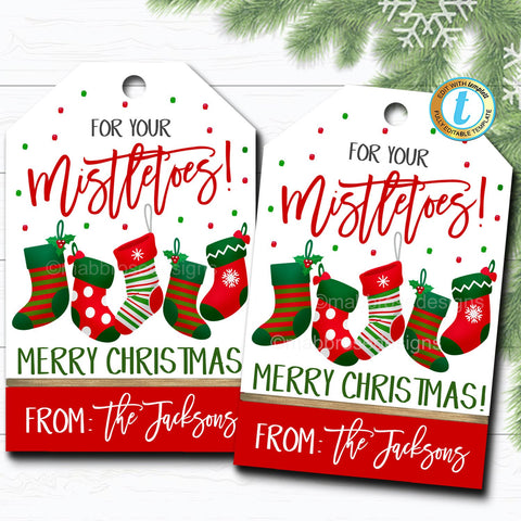 mistletoes christmas tag