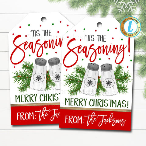 christmas seasoning gift tag