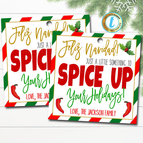 christmas spice tag
