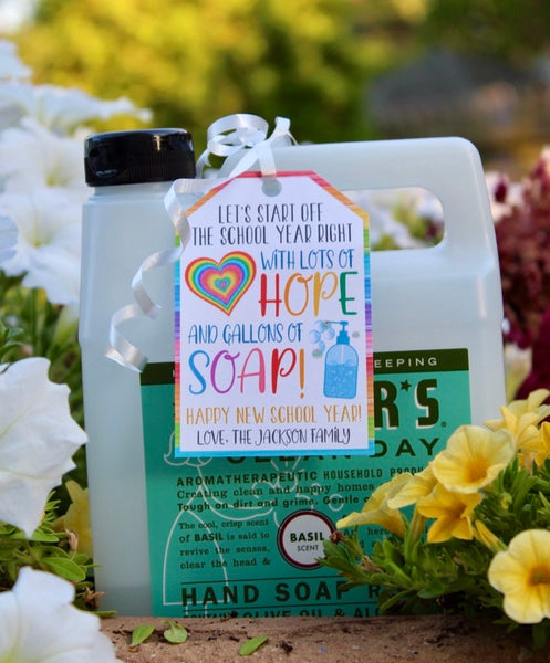 back to school soap tag