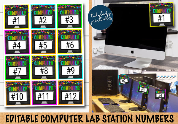 computer lab decor