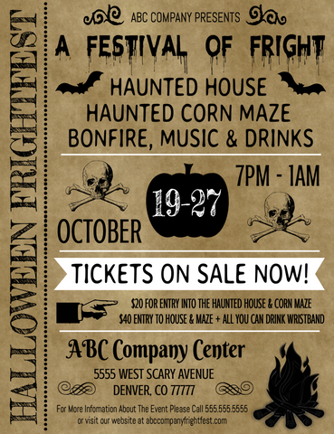 halloween haunted house editable template