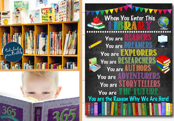 school library poster