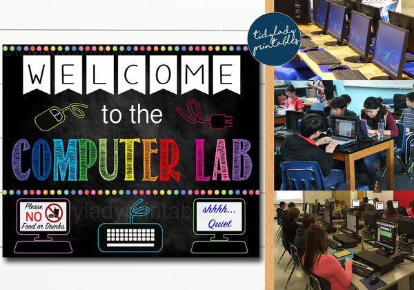 computer lab poster