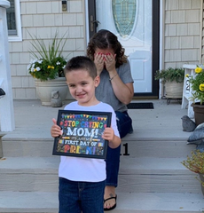 stop crying mom first day of school sign
