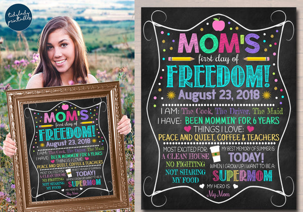 moms day out first day of school sign