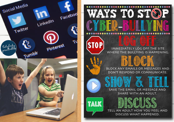 cyber bully computer classroom poster