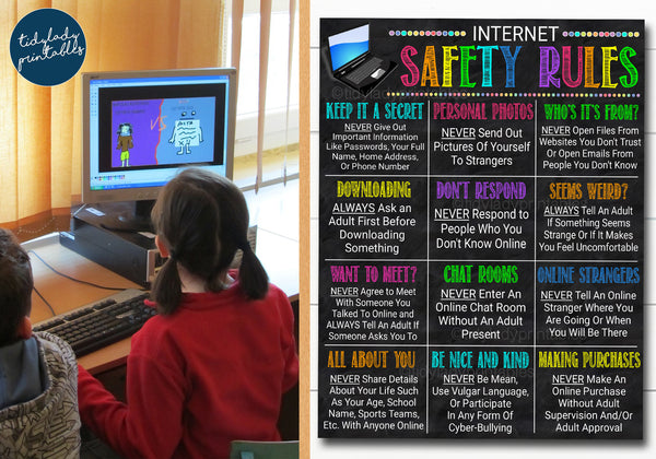 computer lab online safety poster