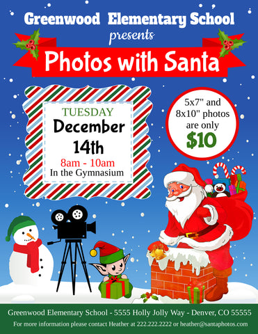 christmas photos with santa flyer