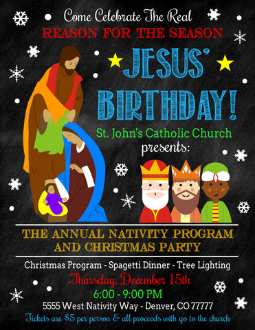 christmas nativity play flyer