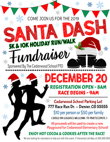 christmas santa dash flyer