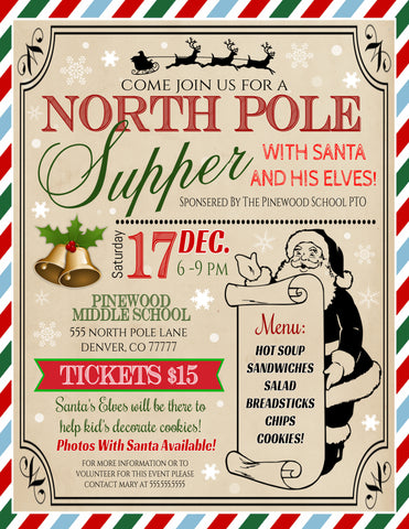 supper with santa flyer