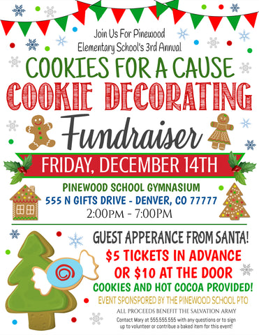 christmas cookie fundraiser
