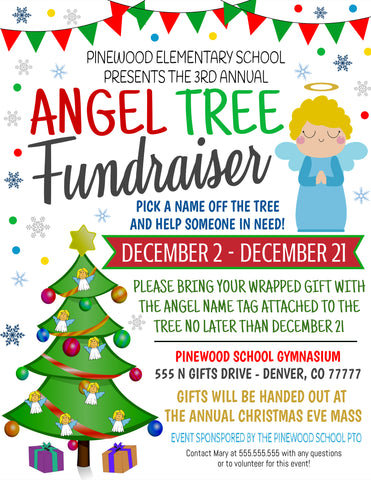 angel tree charity flyer